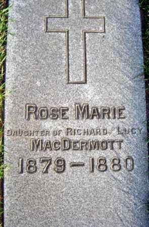 MAC DERMOTT, ROSE MARIE - Schenectady County, New York | ROSE MARIE MAC DERMOTT - New York Gravestone Photos