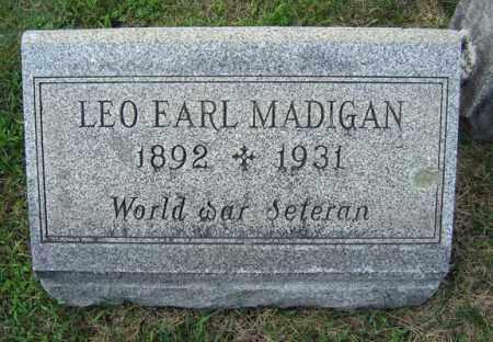 MADIGAN (WWI), LEO EARL - Schenectady County, New York | LEO EARL MADIGAN (WWI) - New York Gravestone Photos