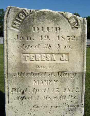 MANNY, TERESA J - Schenectady County, New York | TERESA J MANNY - New York Gravestone Photos