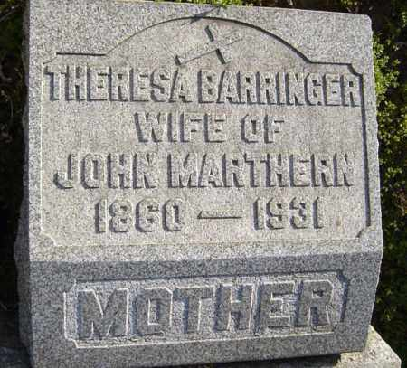 BARRINGER, THERESA - Schenectady County, New York | THERESA BARRINGER - New York Gravestone Photos
