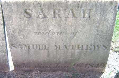 MATHEWS, SARAH - Schenectady County, New York | SARAH MATHEWS - New York Gravestone Photos