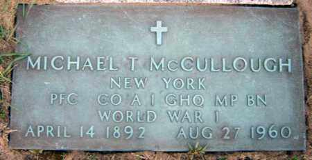 MCCULLOUGH (WWI), MICHAEL T - Schenectady County, New York | MICHAEL T MCCULLOUGH (WWI) - New York Gravestone Photos