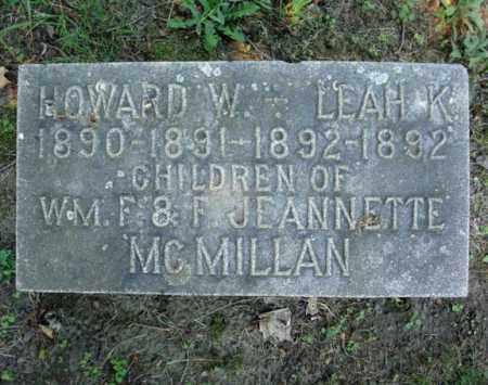MCMILLAN, LEAH K - Schenectady County, New York   LEAH K MCMILLAN - New York Gravestone Photos