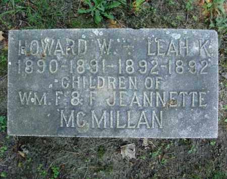 MCMILLAN, HOWARD W - Schenectady County, New York   HOWARD W MCMILLAN - New York Gravestone Photos