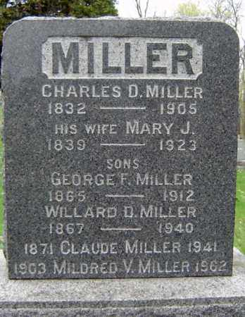 MILLER, CHARLES D - Schenectady County, New York | CHARLES D MILLER - New York Gravestone Photos