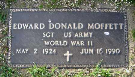 MOFFETT, EDWARD DONALD - Schenectady County, New York | EDWARD DONALD MOFFETT - New York Gravestone Photos