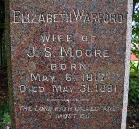 WARFORD MOORE, ELIZABETH - Schenectady County, New York | ELIZABETH WARFORD MOORE - New York Gravestone Photos