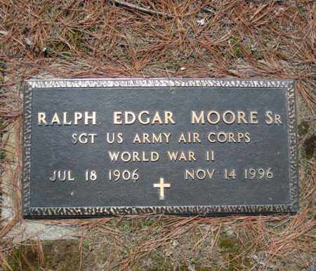 MOORE, RALPH EDGAR, SR - Schenectady County, New York | RALPH EDGAR, SR MOORE - New York Gravestone Photos