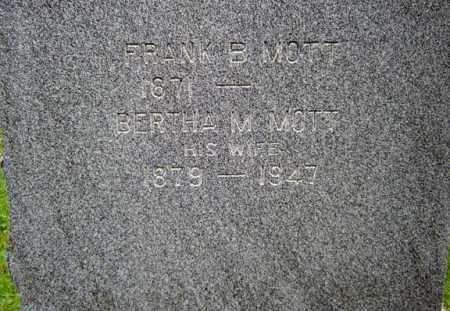 MOTT, FRANK B - Schenectady County, New York | FRANK B MOTT - New York Gravestone Photos