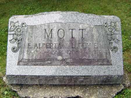 MOTT, E ALBERTA - Schenectady County, New York | E ALBERTA MOTT - New York Gravestone Photos