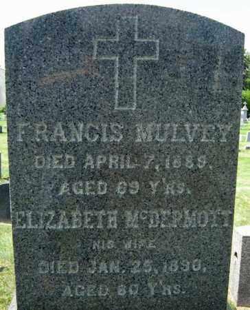 MULVEY, FRANCIS - Schenectady County, New York | FRANCIS MULVEY - New York Gravestone Photos