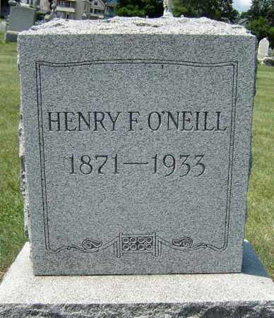 O'NEILL, HENRY F - Schenectady County, New York | HENRY F O'NEILL - New York Gravestone Photos