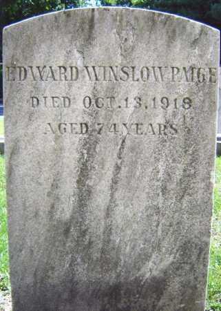 PAIGE, EDWARD WINSLOW - Schenectady County, New York   EDWARD WINSLOW PAIGE - New York Gravestone Photos