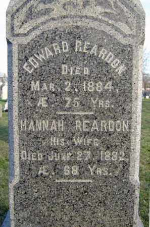 REARDON, EDWARD - Schenectady County, New York | EDWARD REARDON - New York Gravestone Photos