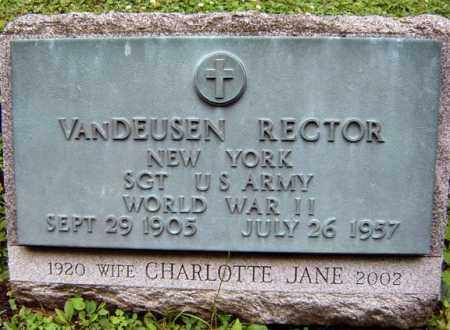 RECTOR, VANDEUSEN - Schenectady County, New York | VANDEUSEN RECTOR - New York Gravestone Photos