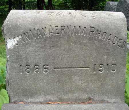 RHOADES, JOHN VANAERNAM - Schenectady County, New York | JOHN VANAERNAM RHOADES - New York Gravestone Photos