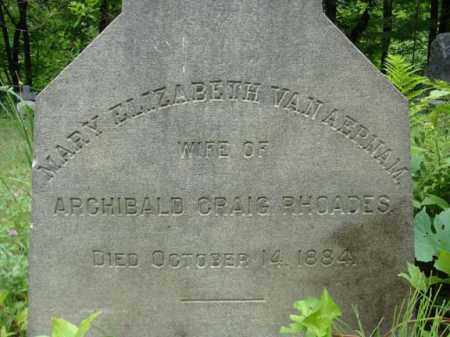 RHOADES, MARY ELIZABETH - Schenectady County, New York | MARY ELIZABETH RHOADES - New York Gravestone Photos