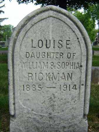 RICKMAN, LOUISE - Schenectady County, New York | LOUISE RICKMAN - New York Gravestone Photos