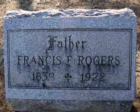 ROGERS, FRANCIS F - Schenectady County, New York | FRANCIS F ROGERS - New York Gravestone Photos