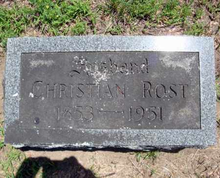 ROST, CHRISTIAN - Schenectady County, New York   CHRISTIAN ROST - New York Gravestone Photos