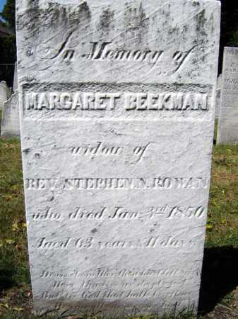 BEEKMAN ROWAN, MARGARET - Schenectady County, New York | MARGARET BEEKMAN ROWAN - New York Gravestone Photos