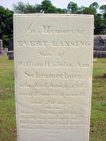 SCHERMERHORN, EVERT LANSING - Schenectady County, New York | EVERT LANSING SCHERMERHORN - New York Gravestone Photos