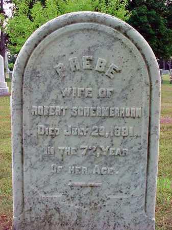 SCHERMERHORN, PHEBE - Schenectady County, New York | PHEBE SCHERMERHORN - New York Gravestone Photos