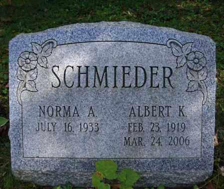 SCHMIEDER, ALBERT K - Schenectady County, New York   ALBERT K SCHMIEDER - New York Gravestone Photos