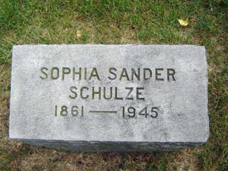 SANDER SCHULZE, SOPHIA - Schenectady County, New York | SOPHIA SANDER SCHULZE - New York Gravestone Photos