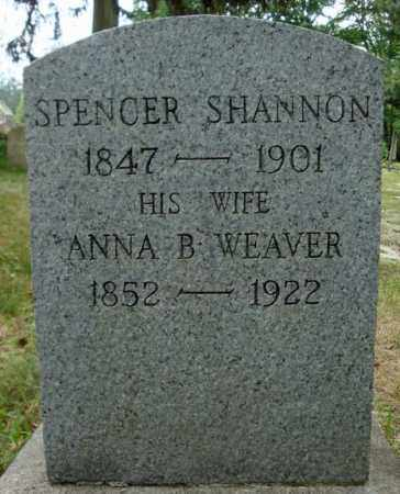 SHANNON, SPENCER - Schenectady County, New York | SPENCER SHANNON - New York Gravestone Photos
