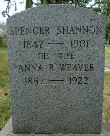 SHANNON, ANNA B - Schenectady County, New York | ANNA B SHANNON - New York Gravestone Photos