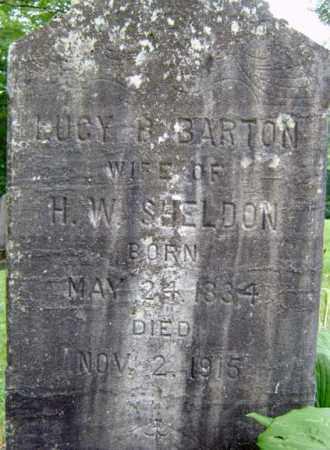 BARTON SHELDON, LUCY B - Schenectady County, New York | LUCY B BARTON SHELDON - New York Gravestone Photos