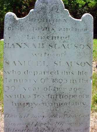 SLAUSON, HANNAH - Schenectady County, New York | HANNAH SLAUSON - New York Gravestone Photos