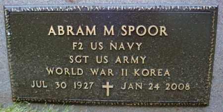 SPOOR, ABRAM M - Schenectady County, New York | ABRAM M SPOOR - New York Gravestone Photos