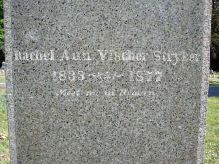 VISCHER STRYKER, RACHEL ANN - Schenectady County, New York | RACHEL ANN VISCHER STRYKER - New York Gravestone Photos