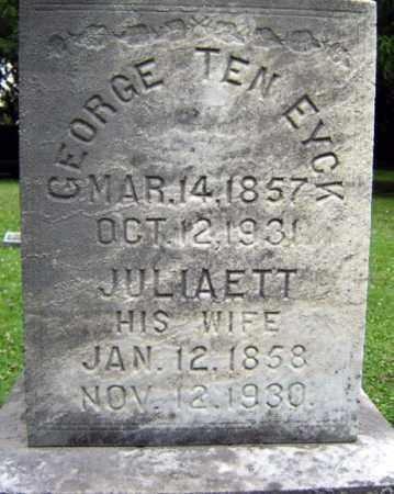 TEN EYCK, GEORGE - Schenectady County, New York | GEORGE TEN EYCK - New York Gravestone Photos