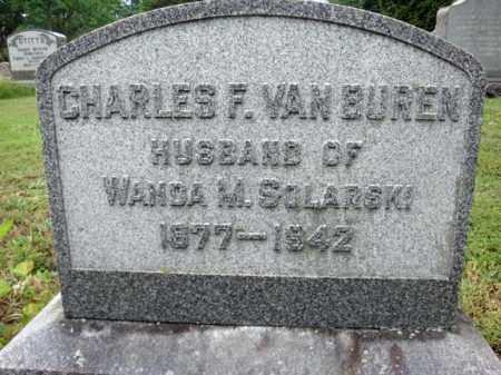 VAN BUREN, CHARLES F - Schenectady County, New York | CHARLES F VAN BUREN - New York Gravestone Photos