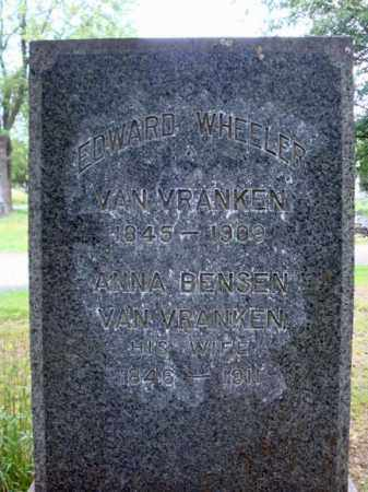 VAN VRANKEN, EDWARD WHEELER - Schenectady County, New York | EDWARD WHEELER VAN VRANKEN - New York Gravestone Photos