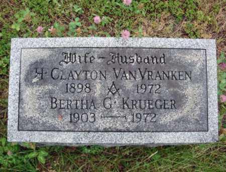 VAN VRANKEN, H CLAYTON - Schenectady County, New York | H CLAYTON VAN VRANKEN - New York Gravestone Photos