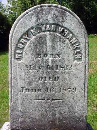 VAN VRANKEN, HENRY N - Schenectady County, New York | HENRY N VAN VRANKEN - New York Gravestone Photos