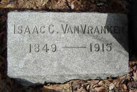 VAN VRANKEN, ISAAC C - Schenectady County, New York   ISAAC C VAN VRANKEN - New York Gravestone Photos