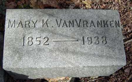 VAN VRANKEN, MARY K - Schenectady County, New York | MARY K VAN VRANKEN - New York Gravestone Photos