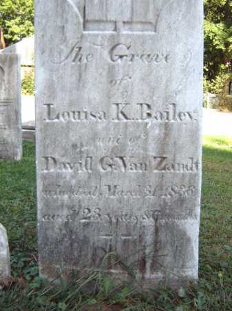 VAN ZANDT, LOUISA K - Schenectady County, New York | LOUISA K VAN ZANDT - New York Gravestone Photos