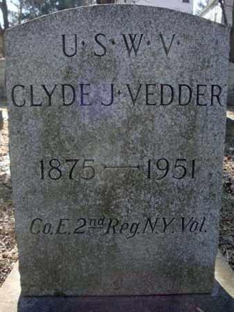 VEDDER, CLYDE J - Schenectady County, New York   CLYDE J VEDDER - New York Gravestone Photos