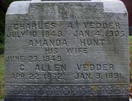 VEDDER, C ALLEN - Schenectady County, New York | C ALLEN VEDDER - New York Gravestone Photos