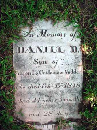 VEDDER, DANIEL D - Schenectady County, New York | DANIEL D VEDDER - New York Gravestone Photos