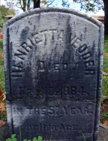 VEDDER, HENRIETTA - Schenectady County, New York | HENRIETTA VEDDER - New York Gravestone Photos