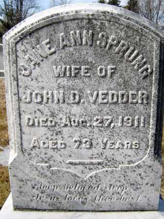 VEDDER, JANE ANN - Schenectady County, New York   JANE ANN VEDDER - New York Gravestone Photos
