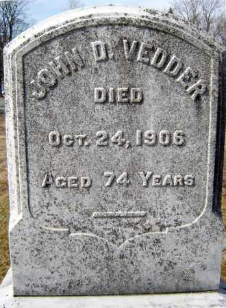 VEDDER, JOHN D - Schenectady County, New York   JOHN D VEDDER - New York Gravestone Photos