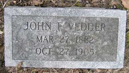 VEDDER, JOHN F - Schenectady County, New York | JOHN F VEDDER - New York Gravestone Photos